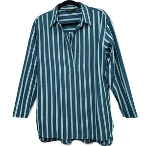 Lafayette 148 New York Striped Tunic  Long Sleeve